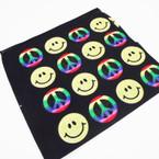 "21"" Square Peace & Happy Face Theme Bandana's .52 each"
