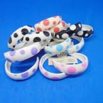 """Value Buy 2"""" Round Colorful Poka Dot Hoop Earrings .27 each"""