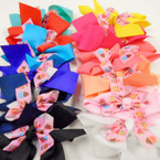 """6"""" 2 Layer Cup Cake Theme Gator Clip Bows Mixed Colors .54 ea"""