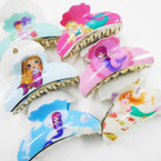 "3.5"" Mermaid Under the Sea Theme Jaw Clips .54 ea"