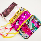 "4"" X 7"" Mermaid Change Color Sequin Zipper Bag w/ Wrislet  .54 each"