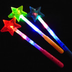 "14"" Light Up Multi Color  Star Top Wand  12 per pk .65 each"