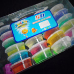 "2.5"" Mini Crystal Slime Asst Colors 24 per pk .31 each"