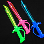 "15"" Light Up Multi Function Multi Color  Shark Sword  12 per pk .65 each"