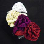 Dept. Store Quality Sparkle Headband w/ Lg. Flower Bow .54 each