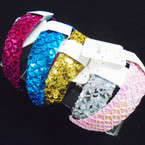 Best Quality Sequin  Headbands Mixed Colors  .54 each