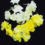 Mixed Color 5 Flower Fashion Headbands w/ Elastic Back .54 ea