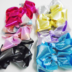 "5"" Gator Clip Bows Mermaid Shiney Metallics  .54 ea"