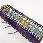 Black & Brown Leather Bracelets w/ Matt Finish 2 Style Crosses .54 ea