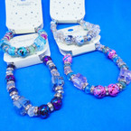 Glass & MBL Beaded Fashion Bracelet Mixed Colors  .54 ea