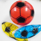 "8""  Asst Color Inflatable Soccer Balls 12 per pack .58 each"