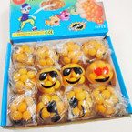 "2"" Smash Water Balls Emoji Theme w/ Egg Yoke Look Filling 12 per display .56 ea"