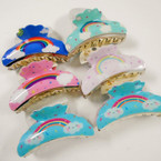 "3.5"" Mixed Color Rainbow Theme Jaw Clips .54 each"