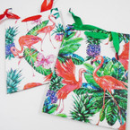 "7"" X 9.5"" Flamingo Theme Gift Bags 2 styles .50 each"