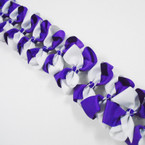 "3.5-4"" Two Tone White/Purple Color Gator Clip Fashion Bow .27 ea"