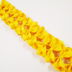 "3.5-4"" All Yellow Color Gator Clip Fashion Bow .27 ea"