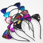 Change Color Sequin Cat's Ear Fashion Headbands .56 each