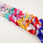 """5""""  Layer Gator Clips Solid & Tye Dye Ribbon .54 each"""