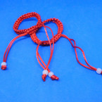 2 Pack Handmade All Red Macrame Kid's Bracelets .54 per set
