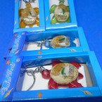 Boxed Acrylic Florida Turtle Keychains Asst Colors  .54 each