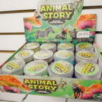 "3"" X 2.5"" Animal Story Crystal Slime 12 per display bx .62 each"