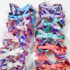 "5"" Metallic Mermaid Scale Ribbon Bows  Pastel Colors  .54 each"