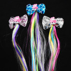 "3.5"" Metallic Mermaid Scale w/ Mermaid Figure Gator Clip Bows w/ 10"" Colored Hair Strands .58 each"