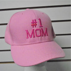#1 MOM Embroidered Baseball Caps PINK  12 per pk $ 2.75 each