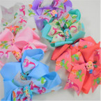 "5"" Layered Gator Clip Bows w/ Mermaid Theme Asst Light Colors .54 ea"
