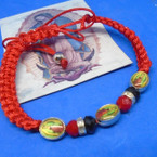 Handmade Macrame Guadalupe Picture Bracelets w/ Cry. Stones  .54 each