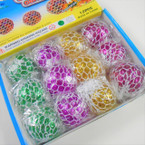 "2"" Mesh Squeeze Ball Light Up w/ Glitter 12 per display .75 each"