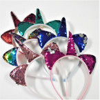 Change Color Asst Color Unicorn Sequin Headbands .56 ea