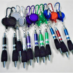 Retractable Pen w/ Clip Asst Colors 12 per pk   .54 ea