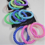 4 Pack Coil Pearlized Bracelets/Ponytailers .50 per pk