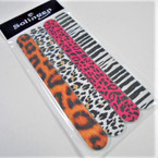 "4 Pack 7"" Fashion Animal Print Nail Files .62 per set"