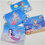 "4"" Kid's Mermaid Theme Zipper Coin Purses .54 ea"