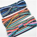 """3"""" Wide Tribal Print  Theme Headwraps Asst Colors .54 ea"""