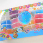 "2.5"" Asst Color w/ Glitter Stars Fun Putty 24 per pack .35 each"