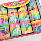 Novelty Unicorn Rainbow Theme Magic Springs 12 per display  bx .56 each