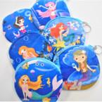 "4"" Velveteen Zipper Bag Under the Sea Mermaid Theme .54 ea"