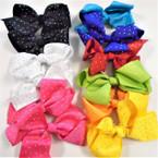 """5"""" 9 Color Gator Clip Bows w/ AB Color Stones .54 ea"""
