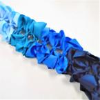 """6"""" Mixed Blue Tone  Color Gator Clip Fashion Bow .45 ea"""