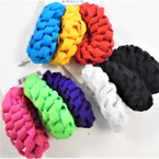 3 Pack Mixed Color Soft Shoelace Style Hair Twisters .54 per set