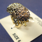 Crystal Stone Elephant Ring 3 Sizes 6 per pk on sale .50 EA