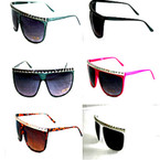 Ladies Colorful Fashion Sunglasses w/ Pyramid Top ON SALE