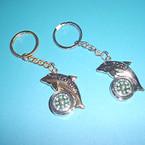 Dolphin Florida Compass Keychain .54 each