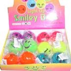 Smile Face Lite Up Balls 12 per counter display bx .54 ea
