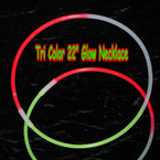 "22""  Tri  Color Glow Necklaces 100  pcs per unit .23 each"