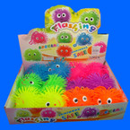 "4.5"" Flashing Smile Face Puffer Ball YoYo 12 per display .60 ea"