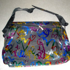 "11"" X 17"" Messager Style Handle Bag w/ Rainbow Design"